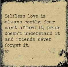 Selfless love