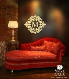 $28.00 from www.etsy.com  Monogram Wall Decal Baroque - Vinyl Text Wall Stickers Wall Decals