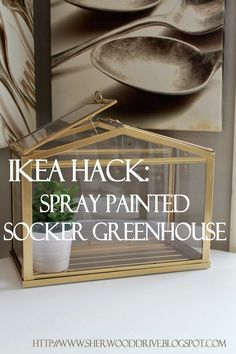 A mini ikea greenhouse as a card box weddingcalligraphy planning ikea hac faux brass greenhouse reheart Image collections