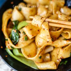 Biang Biang Mian (Hot Oil Noodle) - a very interesting and popular dish in Shaanxi province. Pork Belly Recipes, Tofu Recipes, Asian Recipes, Cooking Recipes, Pork And Cabbage, Cabbage Stir Fry, Chinese Bbq Pork, Chinese Egg, Mapo Tofu Recipe