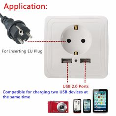 5V 2A Electric Dual USB Wall Charger Adapter EU Plug USB Wall Socket Power Charging Switch Outlet Plug USB Power Socket Panel-in Outlets from Home Improvement on Aliexpress.com | Alibaba Group