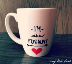 Easy + Creative Holiday Gift: DIY Sharpie Coffee Mugs