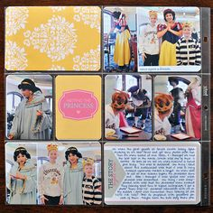 Disney Project Life page created by kristasahlin featuring Project Mouse Princess by Sahlin Studio & Britt-ish Designs