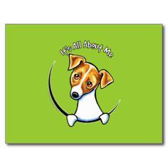 jack russel drawings | Jack Russell Terrier IAAM Off-Leash Art™ Post Card