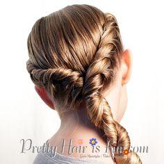 Pretty Hair is Fun: Double Side Twist Braid:  hair; braids; hairstyles; updos; wedding; prom; homecoming; girls hairstyles; easy hairstyles
