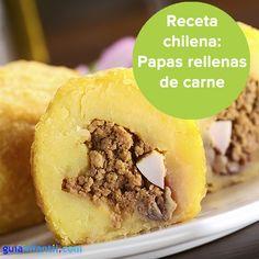 Papas rellenas de carne, una receta tradicional chilena. http://www.guiainfantil.com/recetas/patatas/papas-rellenas-de-carne-receta-chilena/