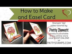Video Tutorial for Fancy Folds Blog Hop - Easel Card - by Patty Bennett at Patty's Stamping Spot
