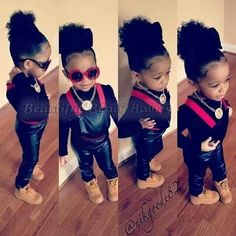 Baby you got swag Beautiful black kids. Cute little girl / boys fashion #kids fashion