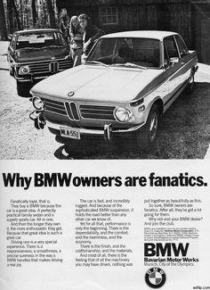 BMW Advertisement (note the Munich Olympics): August 1972 Mercedes Benz, Volkswagen, Toyota, Bmw Vintage, Buy Bmw, Auto Union, Porsche, Bmw Classic Cars, Classic Auto