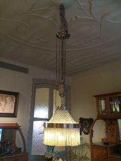 Light and ceiling from Gaudi's Casa Mila, La Pedrera.