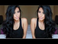 The best hair curl tutorial (that is sooo easy) that I have ever found. Probably will do this daily now. Hellllloooo sexy hair! Big Sexy Curls in 15 mins [Mommy friendly] im totally getting a set of hot rollers now