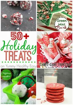 50+ Holiday Treats - over fifty cookies, bars, treats and desserts that are perfect to make during this holiday season! #treats #desserts