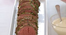 An amazing eye fillet smothered with herbs - perfect for any gourmet gathering.