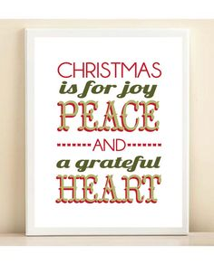 Christmas is for Joy, Peace, and a Grateful Heart' by acdshop #Illustration #Christmas_Card