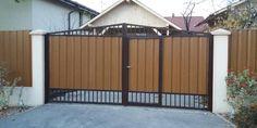 Lucrari garduri si porti metalice MODERNE SI REZISTENTE Garage Doors, Shed, Outdoor Structures, Outdoor Decor, Modern, Room, Furniture, Metal, Home Decor