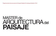 Librito map 15 07 2013 issuue  Master in Landscape Architecture booklet.