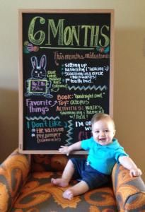 Documenting Baby's First Year with monthly Chalkboards!