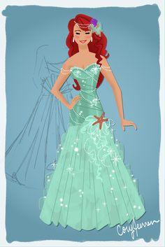 Ariel Dress Design by Cor104.deviantart.com on @deviantART