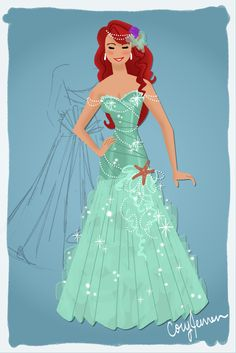 ariel in a dress | Ariel Dress Design by Cor104