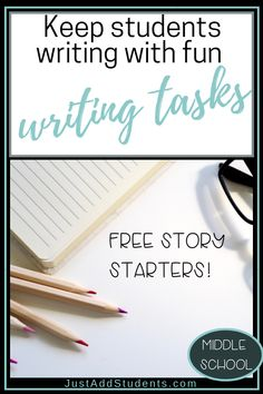 Your students will love these fun, quick writing tasks that will keep them engaged and thinking creatively!  Perfect to strengthen descriptive writing skills, fluency, narrative voice, and more.  Perfect for test prep, sub plans, fun warm ups, and writing workshop.  #lessonplans #writingtips #writingpromps