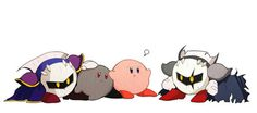 Kirby protects all of his friends!