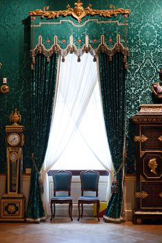 Love this India influenced window treatment with the custom beading..