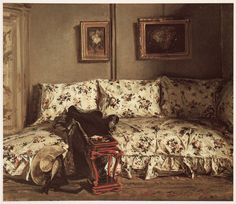 """Jacques-Emile Blanche """"Le Divan en chintz""""1908."""