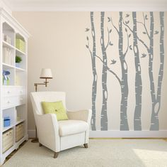 Tree Wall Decal Birch Tree Decal Wall Decal Nursery by LucyLews, $60.00