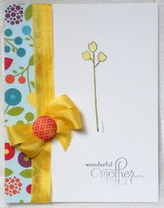 A mother's day card  Stampin' Up