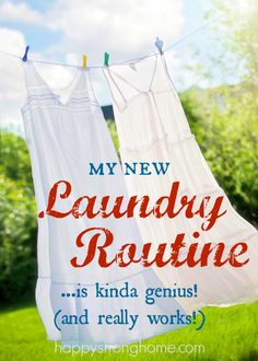 My new laundry routine is kinda genius - because it saves me time and space and makes life easier! It's one of those super simple life hacks for the home that you can use too!