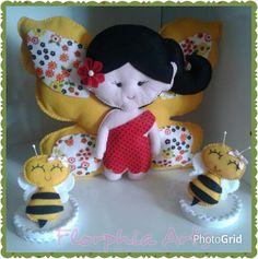 Borboletinha e abelhinhas