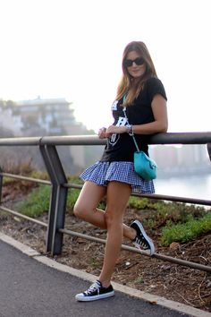 Black #Converse #Chucks Chuck Taylor low-tops; #trainers; #tennis shoes; #sneakers (Marilyn's Closet - FASHION BLOG: Comfy Mama)
