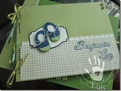 Decorando Lembranças #baby #nursery #blue #green #album