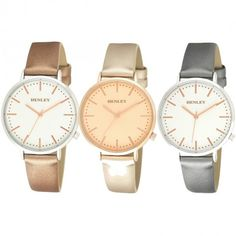 New Henley Ladies Fashion Watch now available at exclusive prices!!  http://www.dkwholesale.com/henley-ladies-fashion-angled-crown-watch-h06123.html