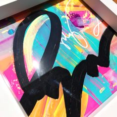 """""""Glass"""" Technique: Acrylic below a sheet of glass Dimensions: x x 3 cm Abstract Expressionism, Abstract Art, Acrylic Sheets, Cursive, Art Studios, Graphic Art, Innovation, Original Art, Neon Signs"""
