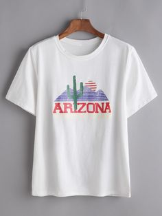 Shop Letter Print Tee online. SheIn offers Letter Print Tee & more to fit your fashionable needs.
