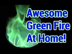 Easy Science Project: How to Make a Neon Green Flame - DIY & Crafts