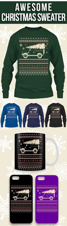 Land Rover Ugly Christmas Sweater! Click The Image To Buy It Now or Tag Someone You Want To Buy This For.  #landrover