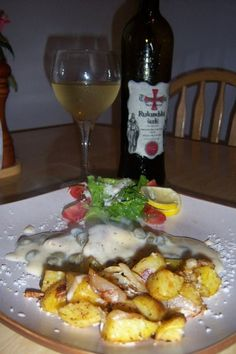 chicken piccada ( with rosmary baked potatos, not pasta sorry guys )#Pin By:Pinterest++ for iPad#