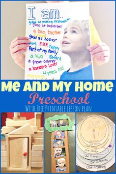 Me and my home preschool theme week with lots of fun ideas and a free lesson plan.