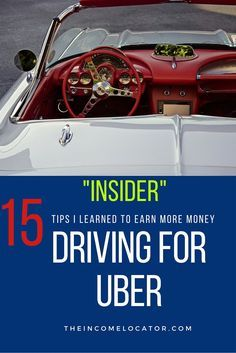 Want a cool way to earn extra money while working from home. Learn how to make money driving for Uber. Create your own work schedule. Be your own boss. Check it out now.