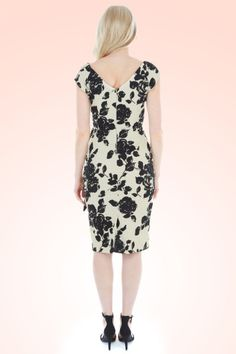 The Pretty Dress Company Black Rose Hourglass Dress 100 59 12555 2