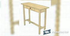 Hall Table Plans - Furniture Plans and Projects   WoodArchivist.com