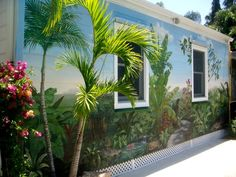 Exterior Wall (After) Tropical Mural