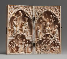 Diptych with the Last Judgment and Coronation of the Virgin, ca. 1250–1270  French; Paris  Elephant ivory