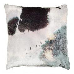 Aviva Stanoff Stain Velvet Pillow - Purple/Gray/Green