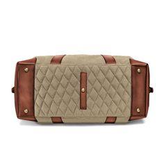 Duffel Weekender - beige Wash Bags, Canvas Leather, Weekender, Vintage Travel, Travel Bags, Dust Bag, Shoulder Strap, Sporty, Beige
