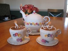 Teapot and Teacup Cakes
