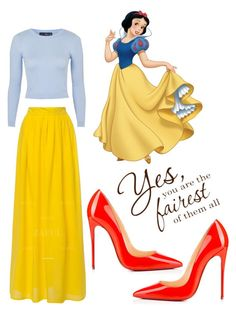 """Snow White"" by l4riss4 ❤ liked on Polyvore featuring Topshop, Christian Louboutin, women's clothing, women's fashion, women, female, woman, misses and juniors"