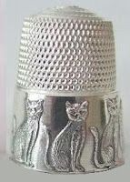 Cats in Art, Photography, Illustration and Design: Cats Thimble